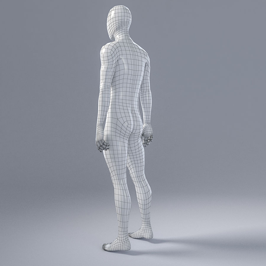 Manlig mannequin 4 royalty-free 3d model - Preview no. 7