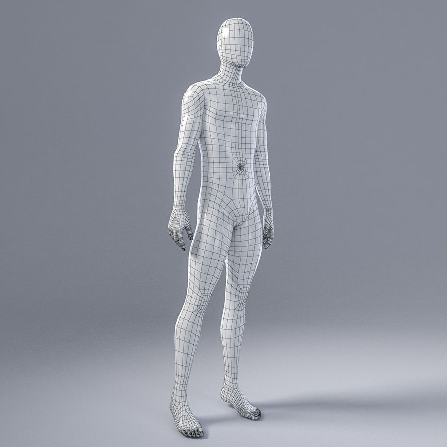 Male mannequin 4 royalty-free 3d model - Preview no. 13