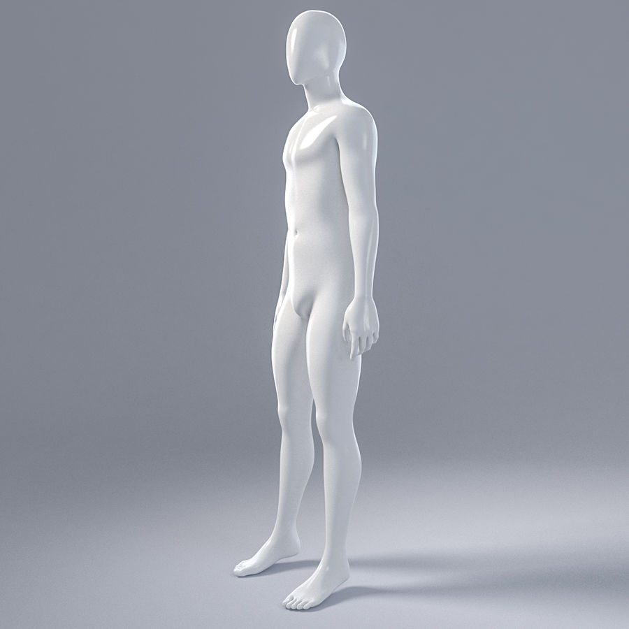 Manlig mannequin 4 royalty-free 3d model - Preview no. 4