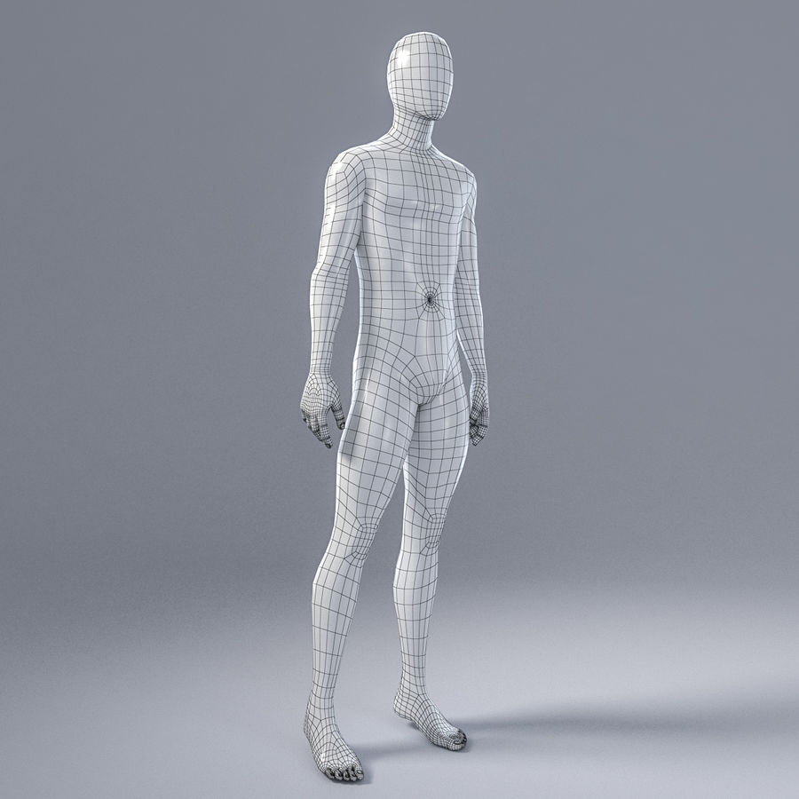 Mannequin homme 4 royalty-free 3d model - Preview no. 13