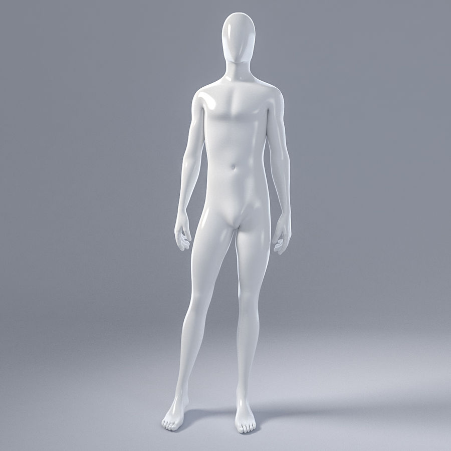 Male mannequin 4 royalty-free 3d model - Preview no. 2