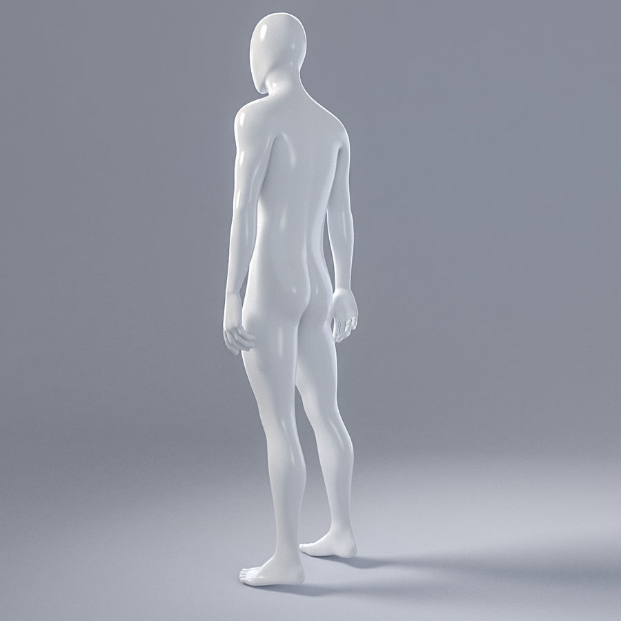 Mannequin homme 4 royalty-free 3d model - Preview no. 6