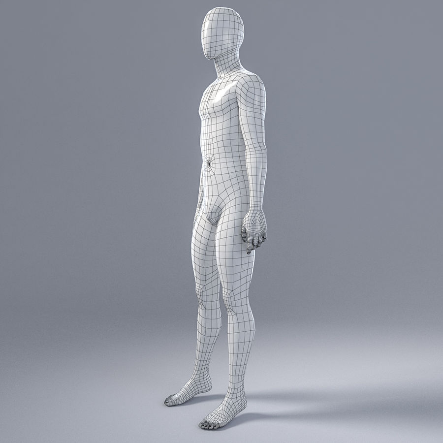 Male mannequin 4 royalty-free 3d model - Preview no. 5