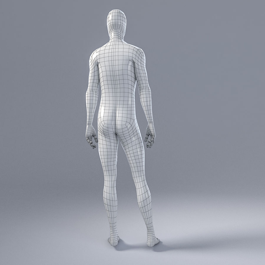 Mannequin homme 4 royalty-free 3d model - Preview no. 9