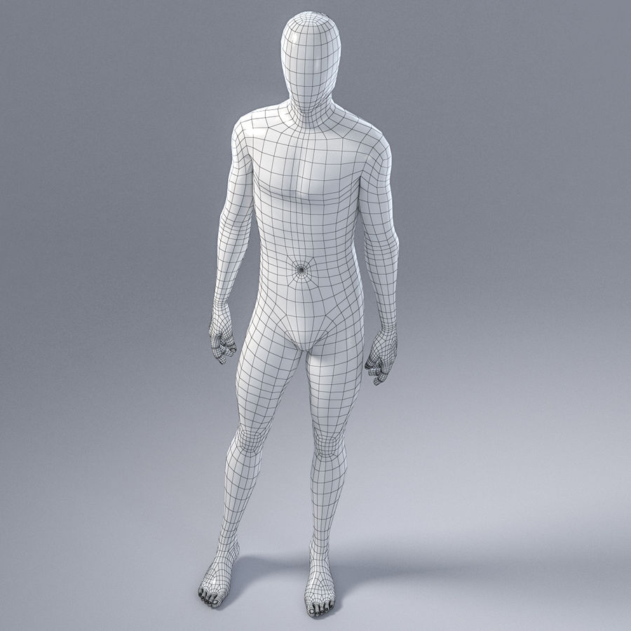 Male mannequin 4 royalty-free 3d model - Preview no. 15