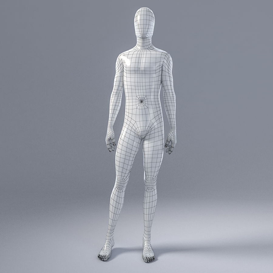 Male mannequin 4 royalty-free 3d model - Preview no. 3