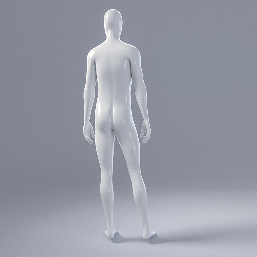 Male mannequin 4 royalty-free 3d model - Preview no. 8