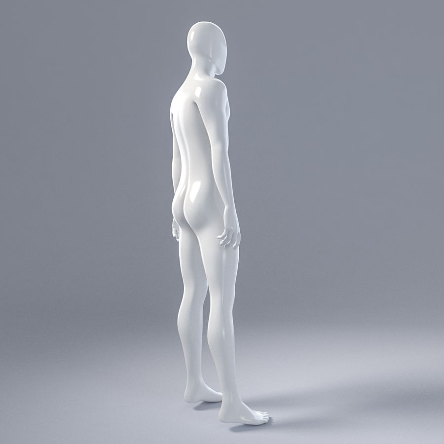 Male mannequin 4 royalty-free 3d model - Preview no. 10