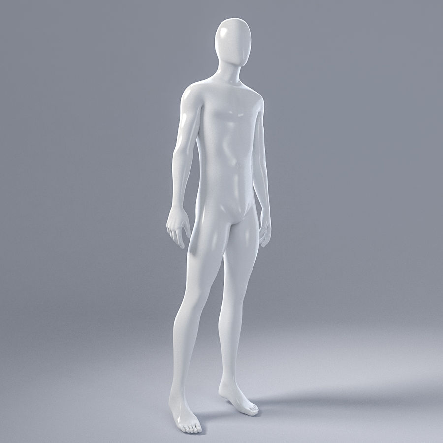 Male mannequin 4 royalty-free 3d model - Preview no. 12