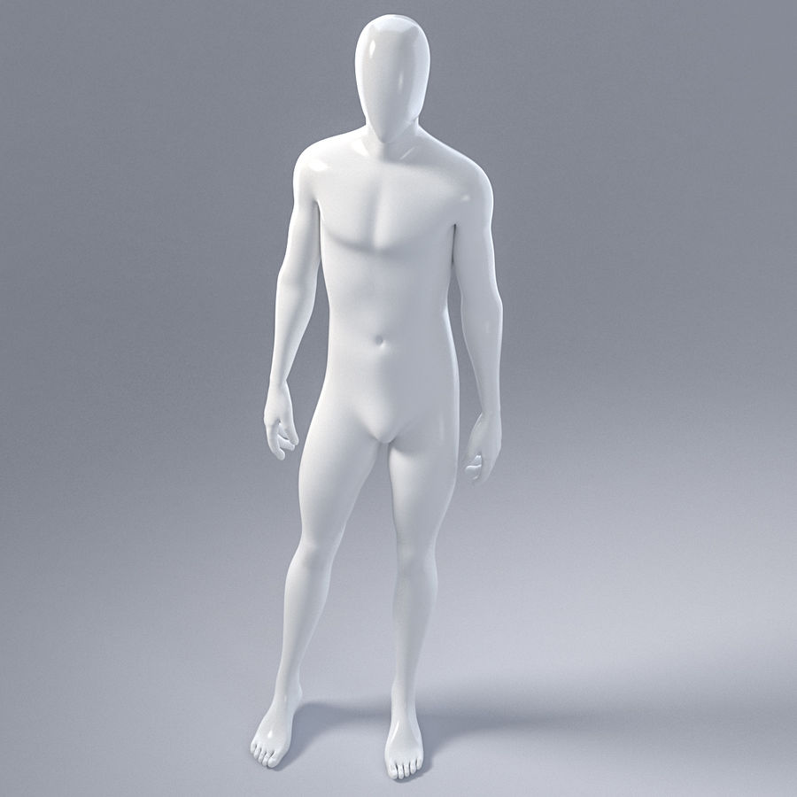 Male mannequin 4 royalty-free 3d model - Preview no. 14