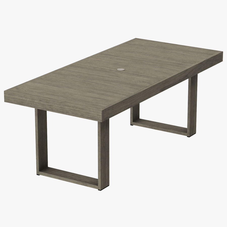 Dining Table Seats 8: Patio Dining Table Rectangle (seats 8) 01 3D Model $29