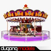 карусель 3d model