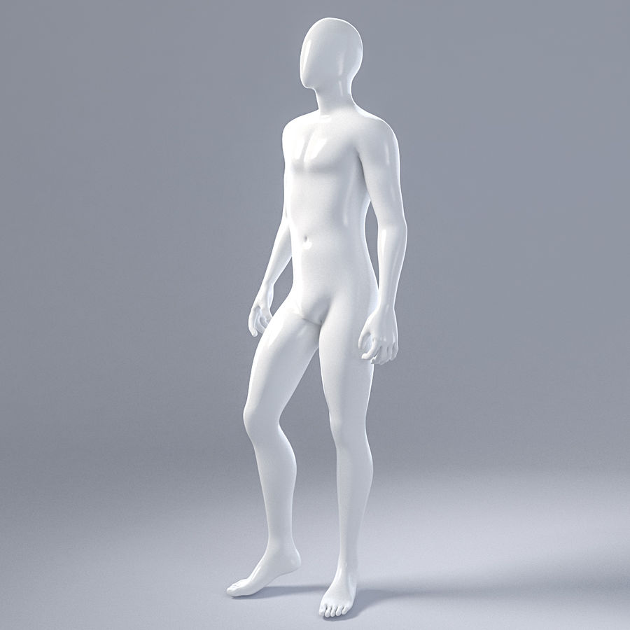 Male mannequin 1 royalty-free 3d model - Preview no. 4