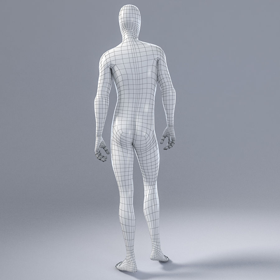 Male mannequin 1 royalty-free 3d model - Preview no. 7