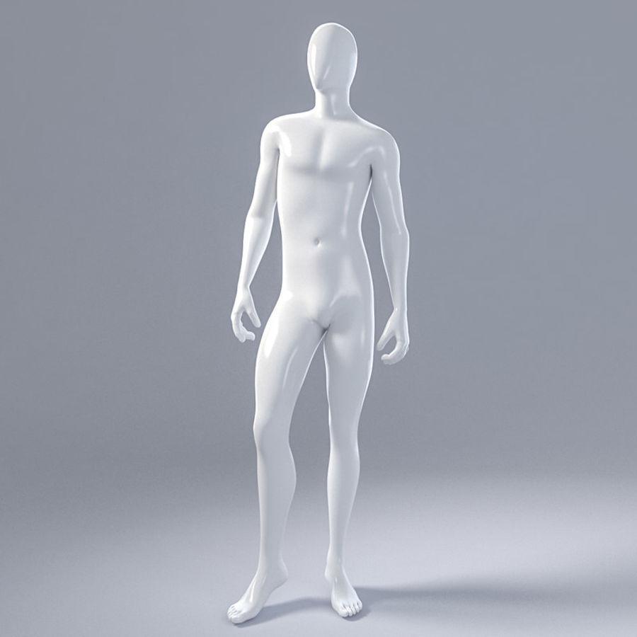 Mannelijke mannequin 1 royalty-free 3d model - Preview no. 2