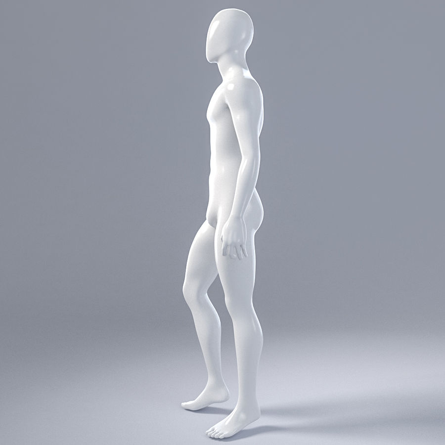 Male mannequin 1 royalty-free 3d model - Preview no. 10