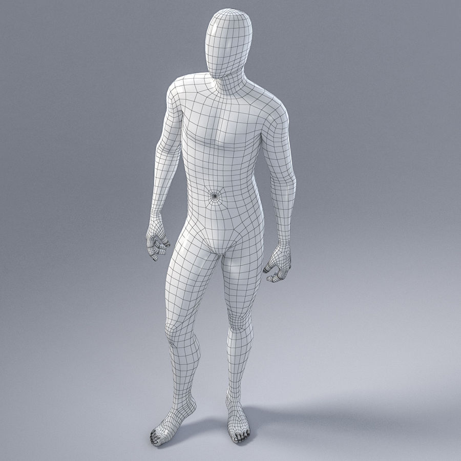 Mannelijke mannequin 1 royalty-free 3d model - Preview no. 13