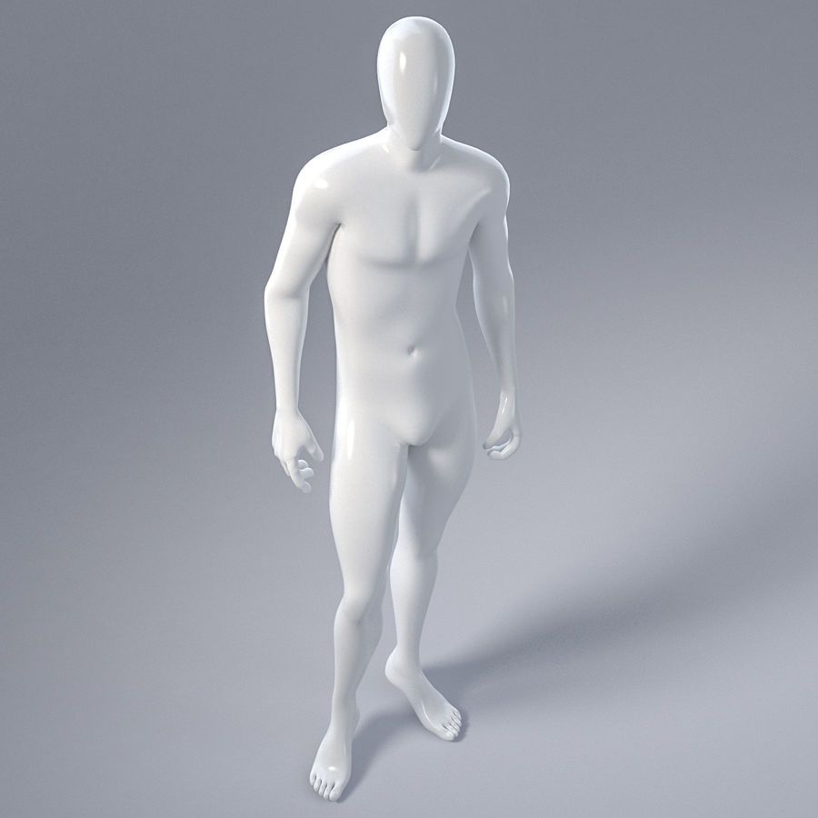 Male mannequin 1 royalty-free 3d model - Preview no. 14