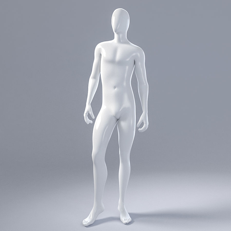 Male mannequin 1 royalty-free 3d model - Preview no. 2