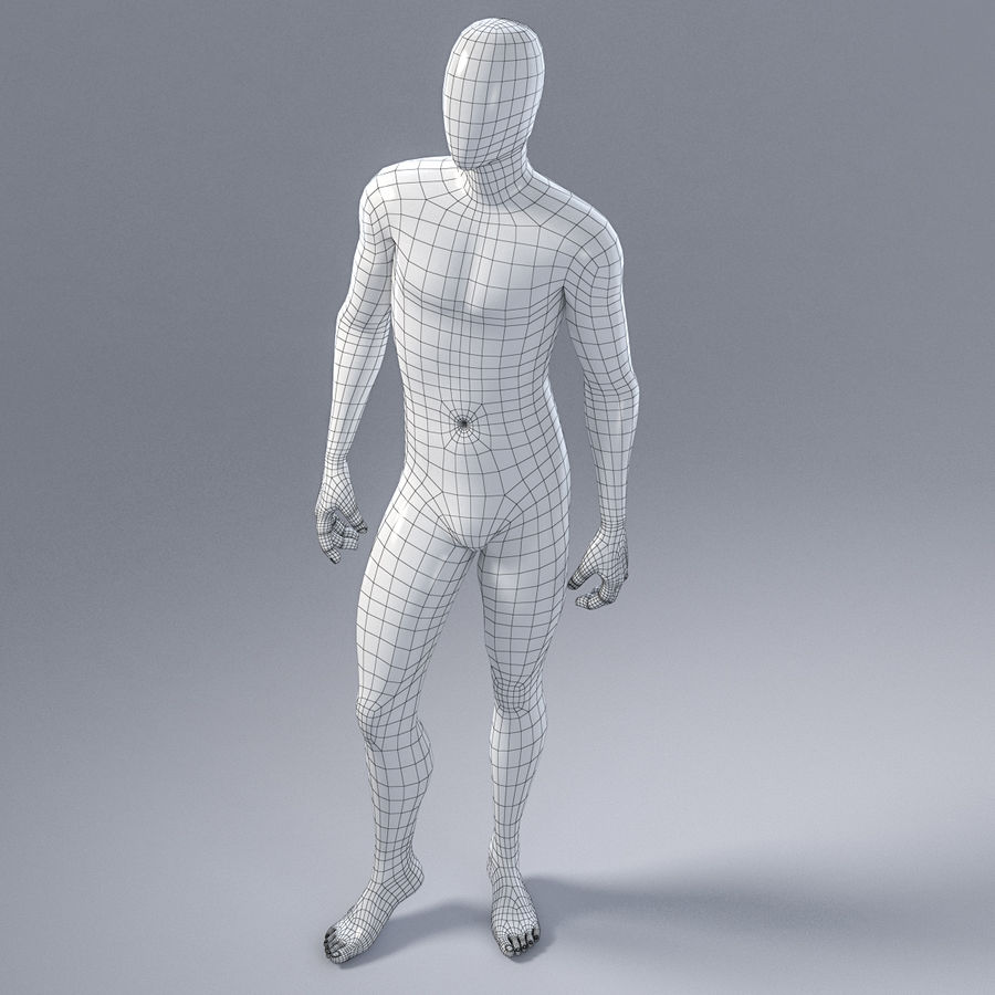Male mannequin 1 royalty-free 3d model - Preview no. 13