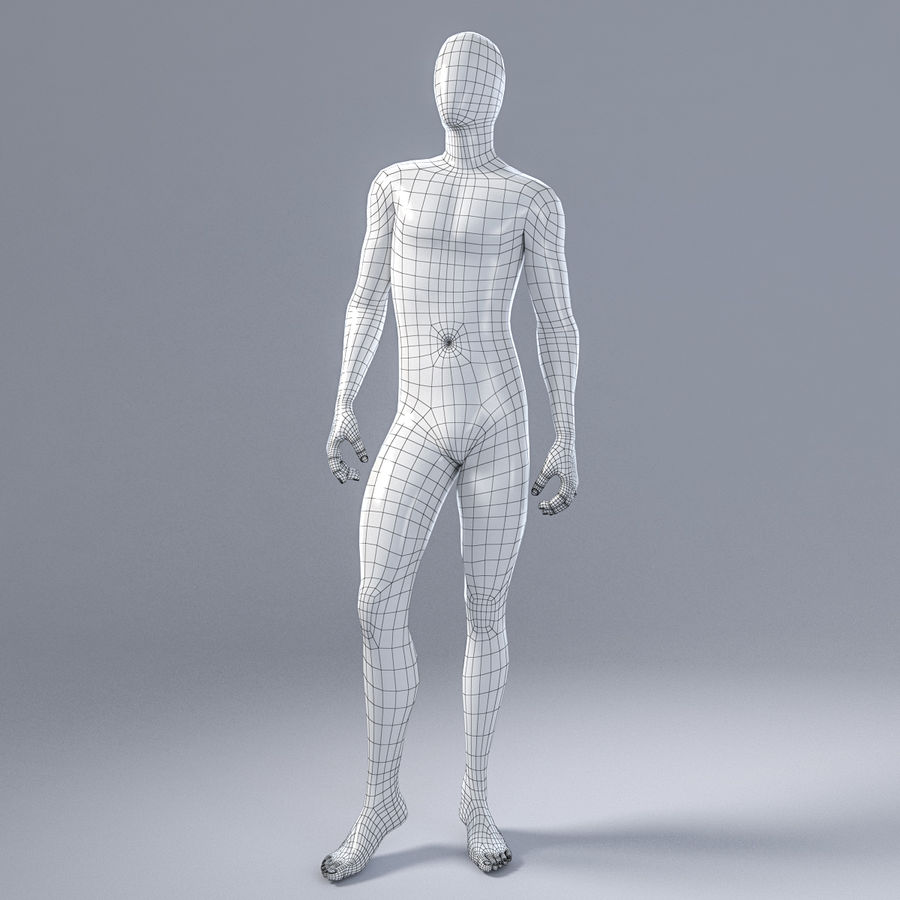 Male mannequin 1 royalty-free 3d model - Preview no. 3