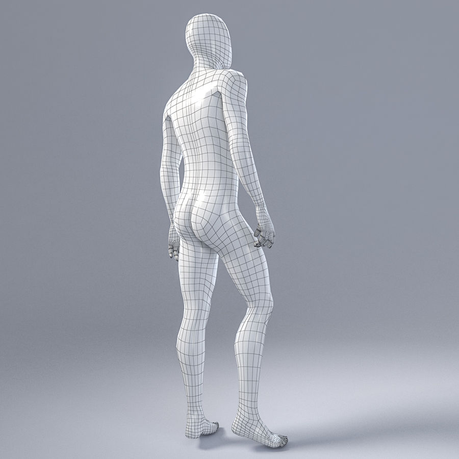 Male mannequin 1 royalty-free 3d model - Preview no. 9