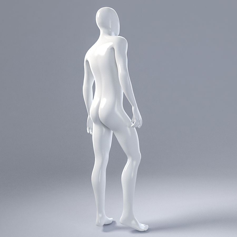 Male mannequin 1 royalty-free 3d model - Preview no. 8