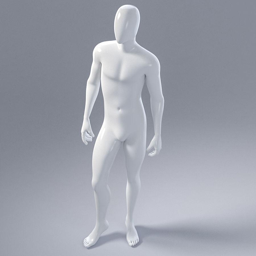 Mannelijke mannequin 1 royalty-free 3d model - Preview no. 12