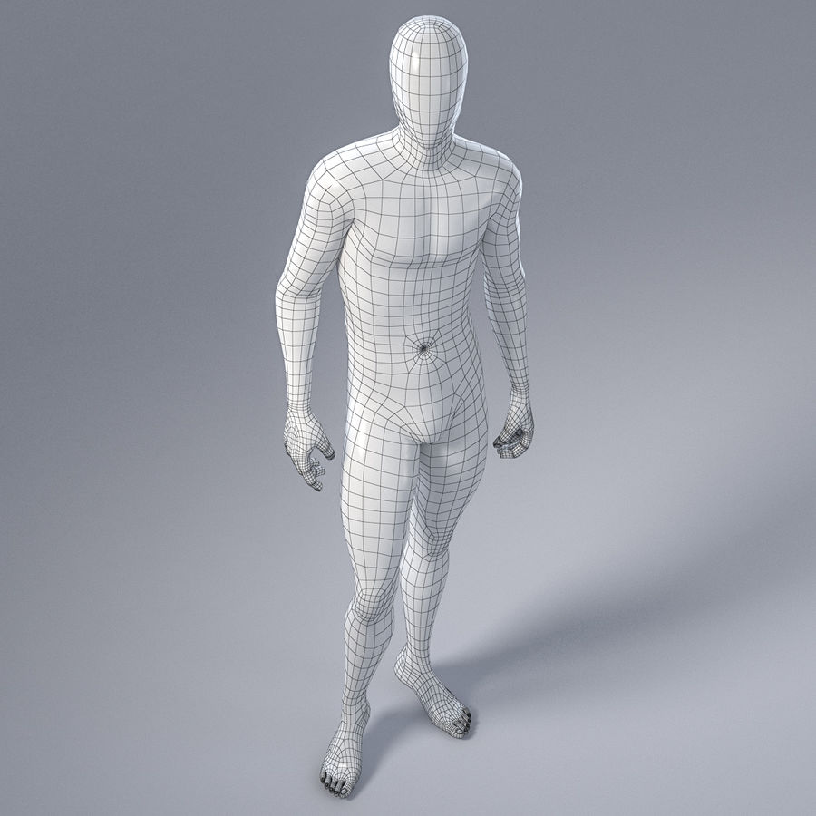 Male mannequin 1 royalty-free 3d model - Preview no. 15