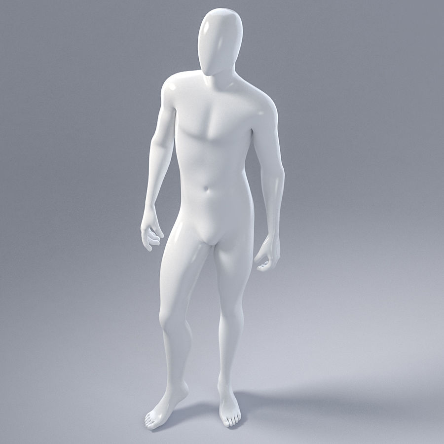 Male mannequin 1 royalty-free 3d model - Preview no. 12