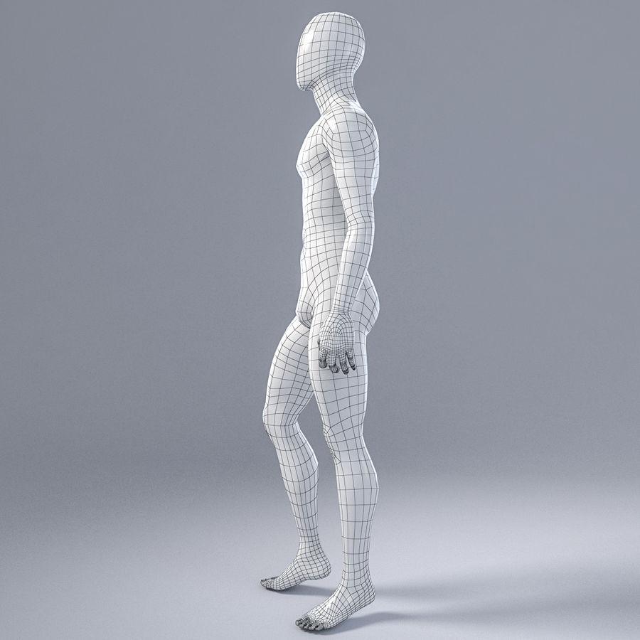 Mannelijke mannequin 1 royalty-free 3d model - Preview no. 11
