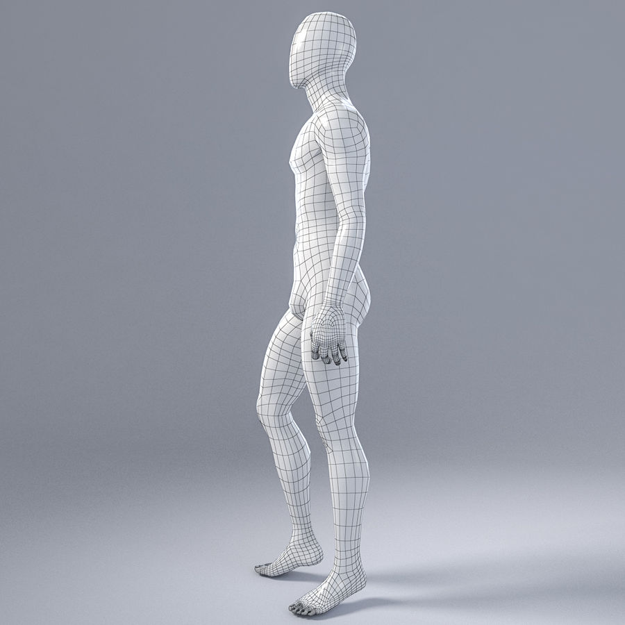 Male mannequin 1 royalty-free 3d model - Preview no. 11