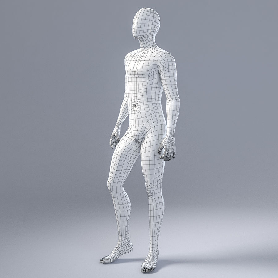 Male mannequin 1 royalty-free 3d model - Preview no. 5