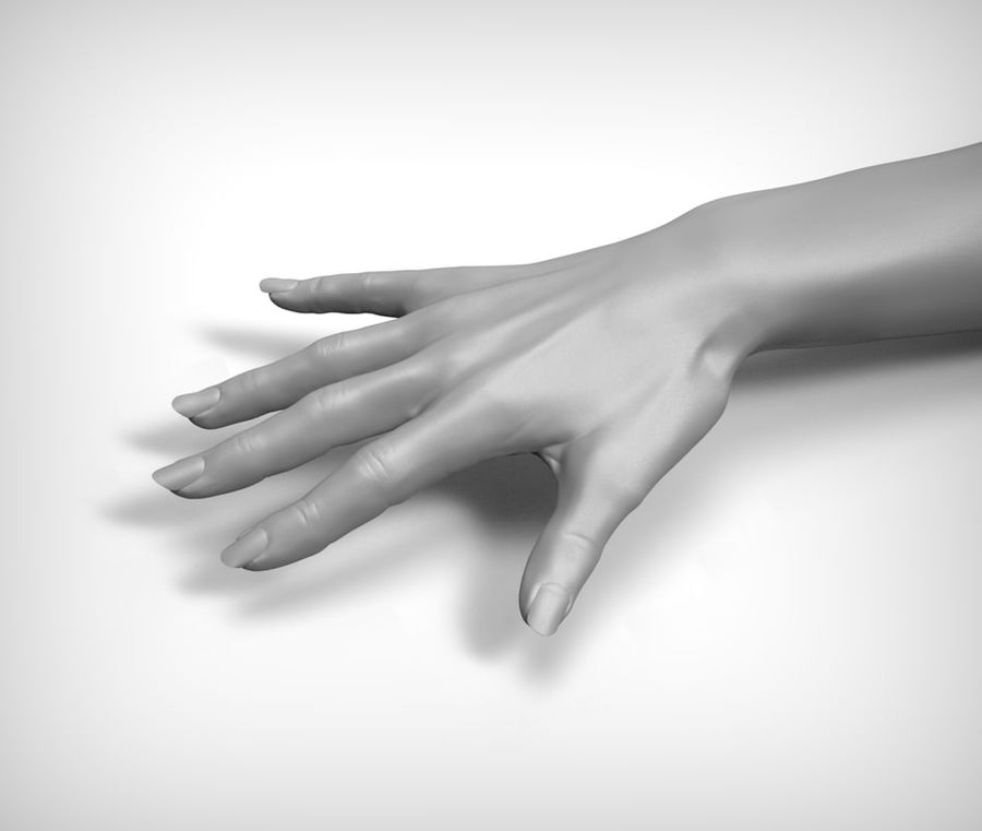 Beauty woman hand royalty-free 3d model - Preview no. 1