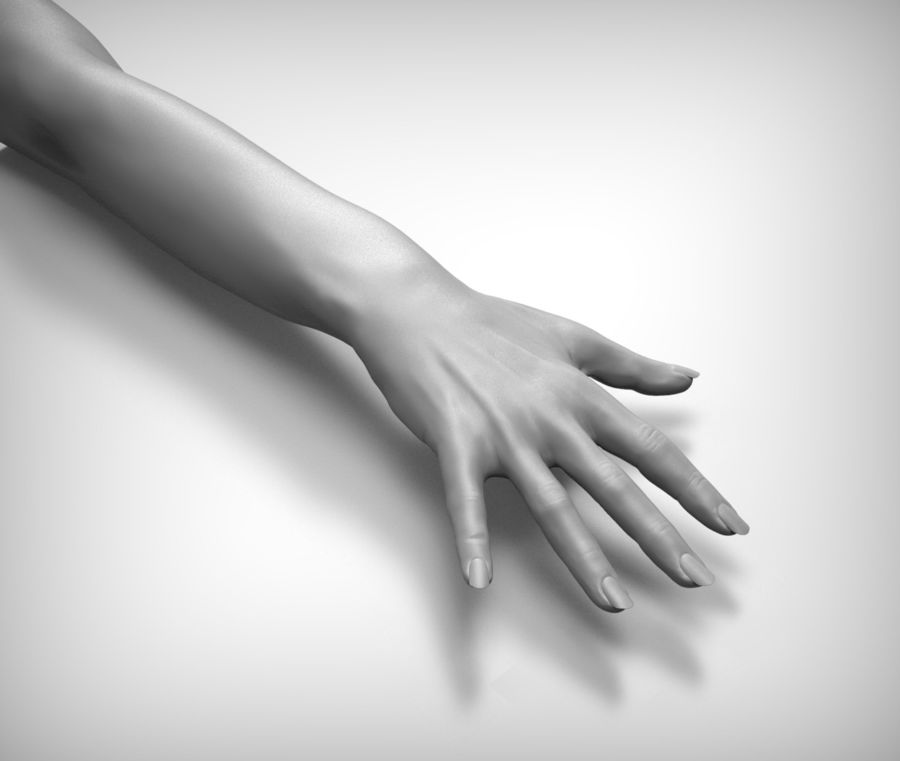 Beauty woman hand royalty-free 3d model - Preview no. 7