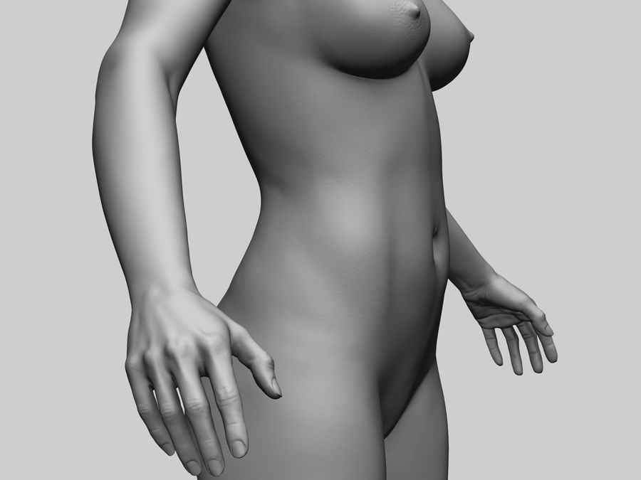 Basemesh Femme royalty-free 3d model - Preview no. 3