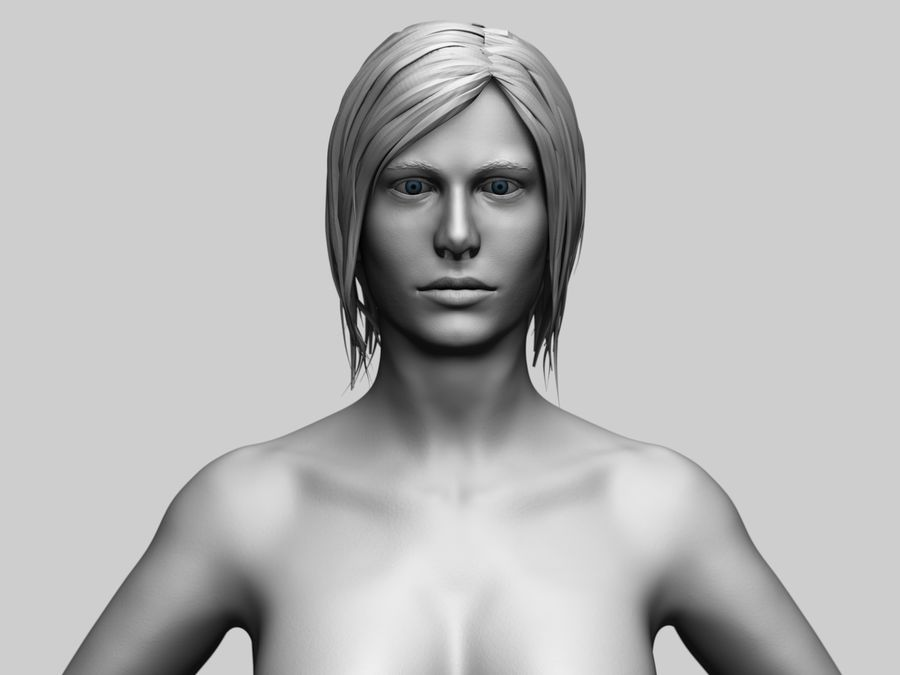 Basemesh Femme royalty-free 3d model - Preview no. 1