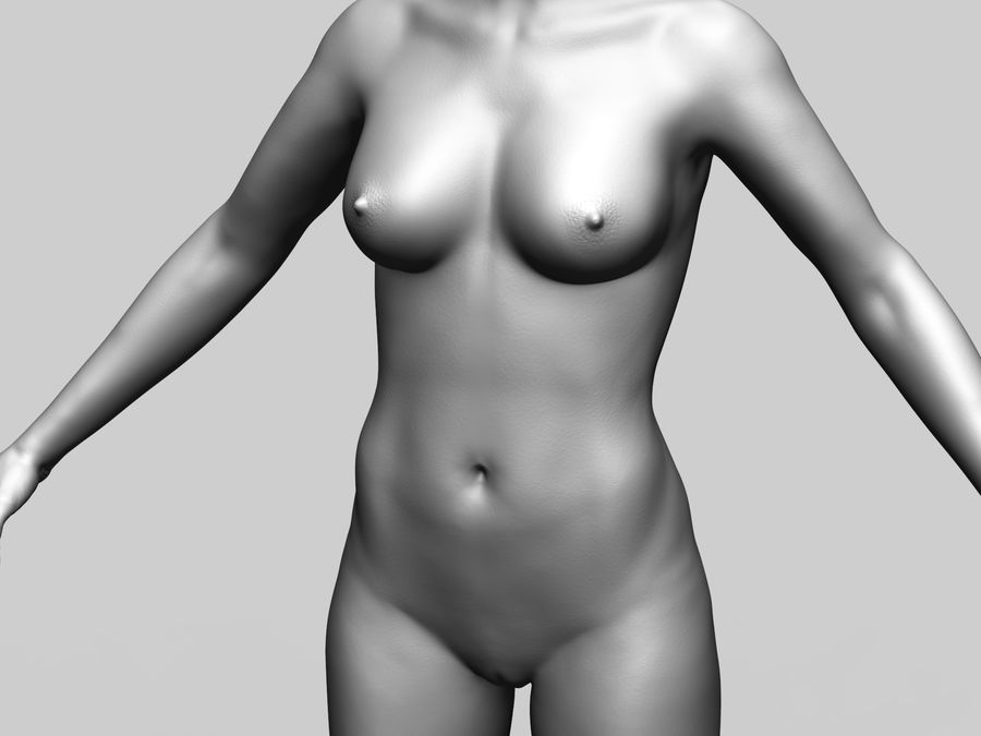Basemesh Femme royalty-free 3d model - Preview no. 7