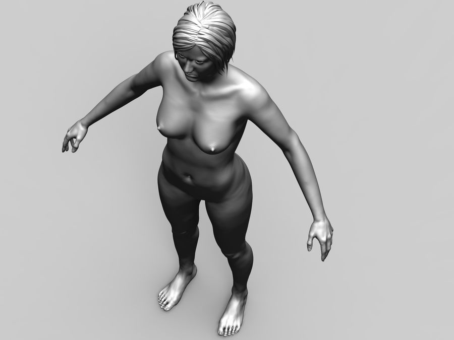 Basemesh Femme royalty-free 3d model - Preview no. 9