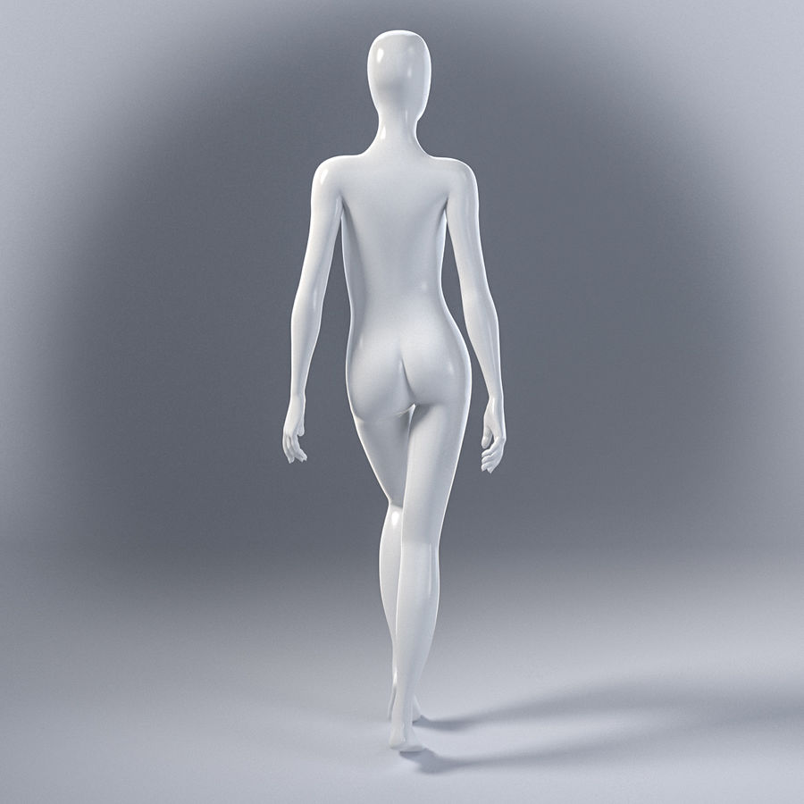 Female mannequin 7 royalty-free 3d model - Preview no. 8