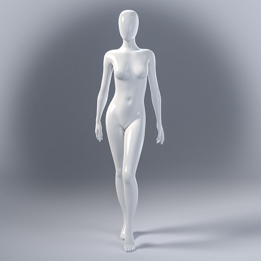 Female mannequin 7 royalty-free 3d model - Preview no. 2
