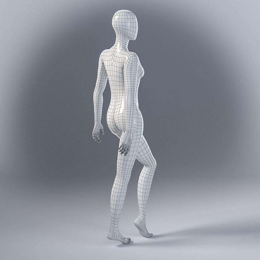 Female mannequin 7 royalty-free 3d model - Preview no. 7
