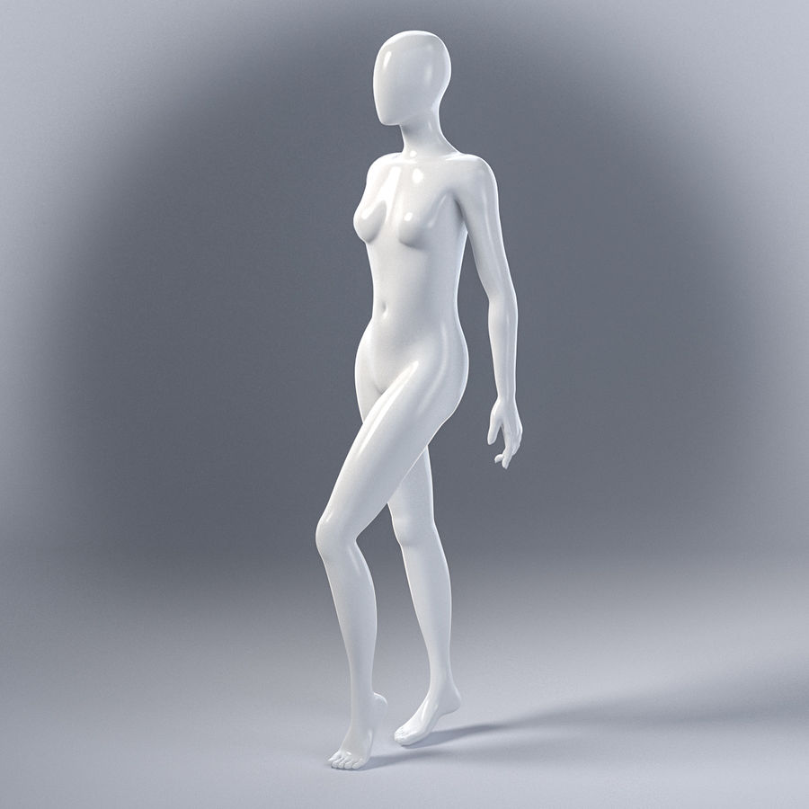 Female mannequin 7 royalty-free 3d model - Preview no. 12