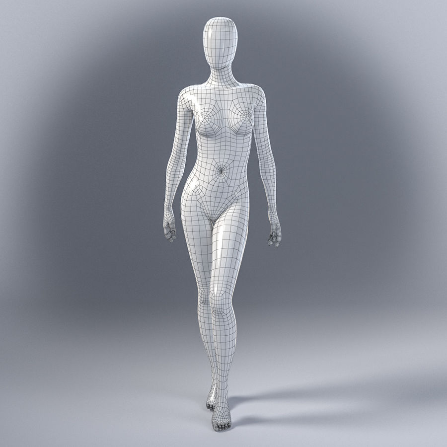 Female mannequin 7 royalty-free 3d model - Preview no. 3