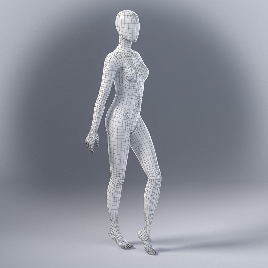 Female mannequin 7 royalty-free 3d model - Preview no. 5