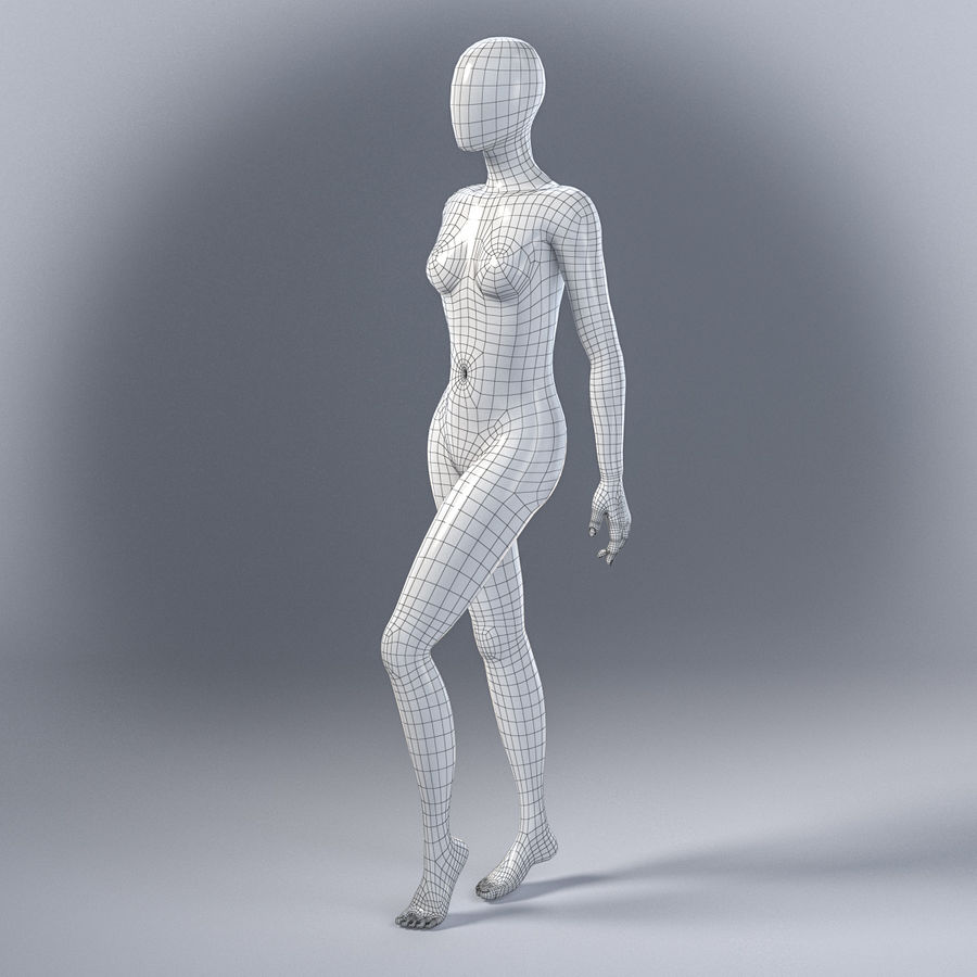 Female mannequin 7 royalty-free 3d model - Preview no. 13