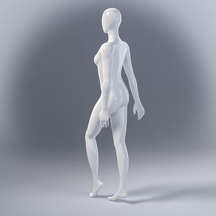 Female mannequin 7 royalty-free 3d model - Preview no. 10