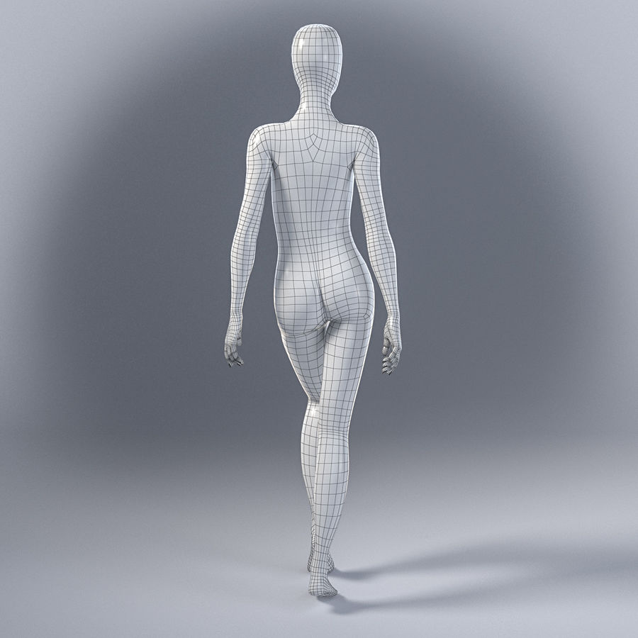 Female mannequin 7 royalty-free 3d model - Preview no. 9