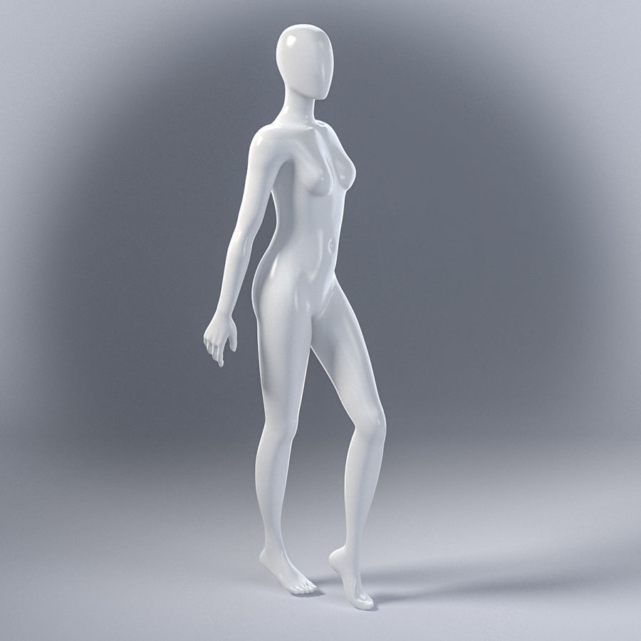 Female mannequin 7 royalty-free 3d model - Preview no. 4