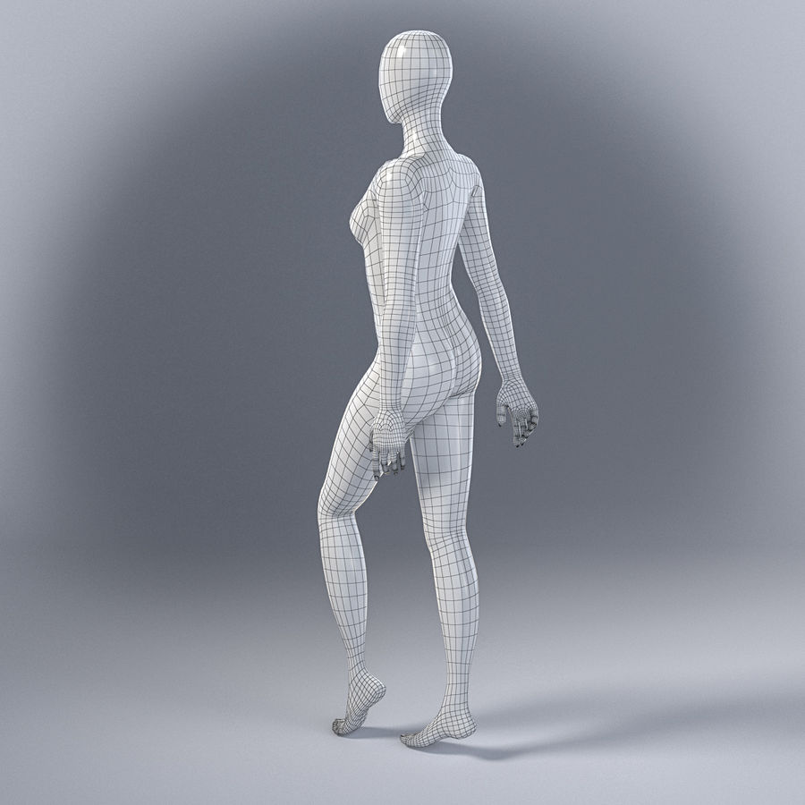 Female mannequin 7 royalty-free 3d model - Preview no. 11